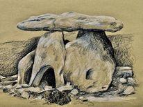 Dolmen, Grab, Skizze, Zeichnungen