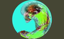 Digitale kunst, Planet, Krieg, Frieden