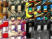 Am fenster, Outsider art, Fenster, Digital art