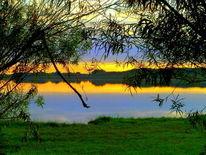 See, Abend, Sonnenuntergang, Digitale kunst