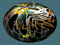 Fat planet polluted, Fat planet, Digitale kunst, Surreal
