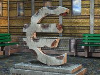 Bröckelig, Korrosion, Währung, Symbolisch