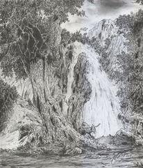 Landschaft, Baum, Fantasie, Wald