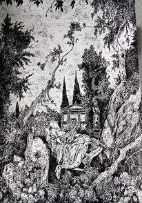 Gothic, Düster, Statue, Gotik