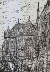 Kirche, Mittelalter, Gotik, Menschen
