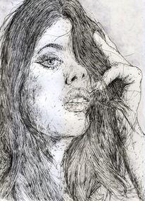 Model, Sinnlichkeit, Frau, Long hair