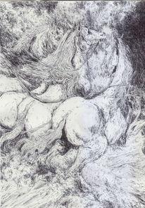 Pferde, Wolken, Fantasie, Ragnarök