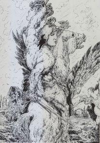 Dämon, Medusa, Muskulatur, Perseus