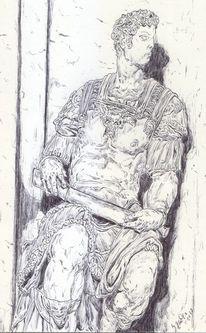 Kaiser, Empore, Rüstung, Antike