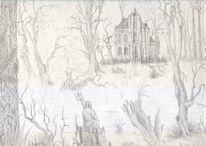 Sumpf, Neptun, Fantasie, Baum