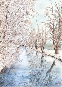 Winter, Baum, Winterlandschaft, Frost