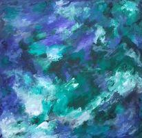 Blau, Grün, Grau, Malerei