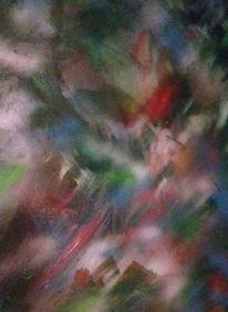 Grün, Rot, Blau, Malerei