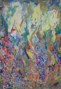 Gelb, Blau, Grün, Malerei