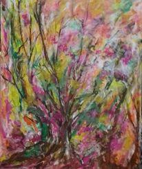 Baum, Farben, Frühling, Malerei