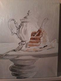 Torte kaffeekanne, Malerei