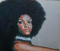 Afrofrisur, Frau, Aluminium, 80er