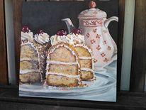Torte, Frankfurter kranz, Kaffeekanne, Kuchen