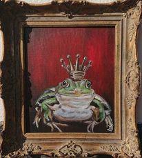 Krone, Frosch, Malerei