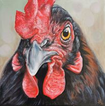 Huhn, Bauernhoftiere, Malerei