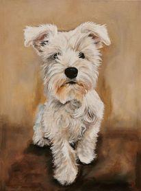 Portrait, Hund, Malerei