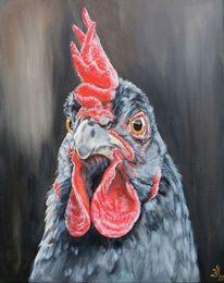 Huhn, Henne, Bauernhoftiere, Malerei