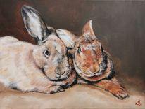 Hase, Kaninchen, Freunde, Malerei