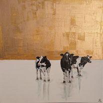 Holsteiner, Gold, Eis, Kuh