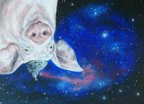 Schwein, Universum, Stern, Malerei