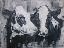 Schwarz, Weiß, Kuh, Milchkuh
