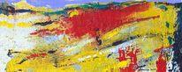 Auftragsmalerei, Rot schwarz, Moderne kunst, Landschaftsmalerei