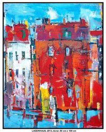 Farben, Fabrik, Haus, Hafen
