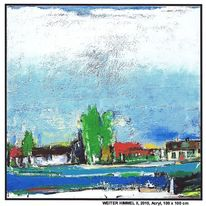 Haus, Wasser, Landschaftsmalerei, Reinbek