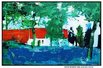 Blau, Baum, Dock, Sommer
