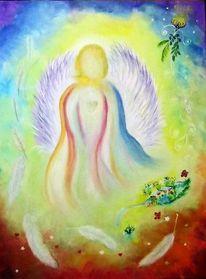 Engel, Kreativ, Feder, Malerei