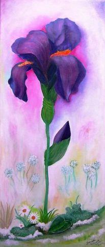 Malerei, Blumen, Iris