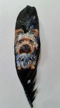 Hund, Yorkshire, Malerei,
