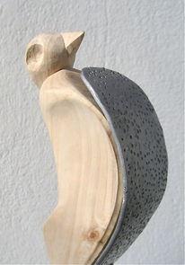 Holzskulpturen, Holzbildhauer, Holz, Moderne kunst