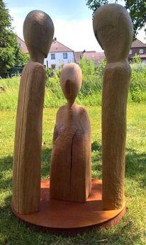 Plastiken, Abstrakte kunst, Holzskulptur, Holzskulpturen