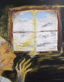 Menschen, Acrylmalerei, Malerei, Ruf