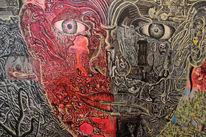 Gesicht, Portrait, Bipolar, Malerei