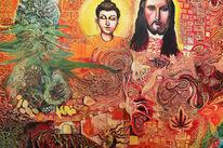 Budda, Jesus, Reggae, Portrait