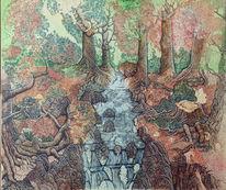 Fluss im wald, Herbst, Natur, Wasserfall