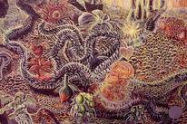 Bipolar, Dualität, Surreale pflanze, Dornranken