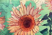 Sonnenblumen, Sommer, Malerei