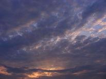 Wolken, Blau, Dämmerung, Natur