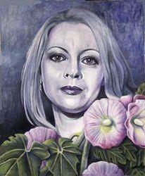 Frau, Blumen, Portrait, Fantasie frau