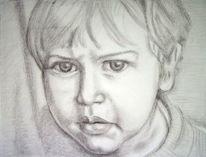 Portrait, Menschen, Kind, Malerei