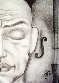 Musik, Geige, Menschen, Fantasie