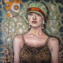 Portrait, Klassisch, Hut, Figural